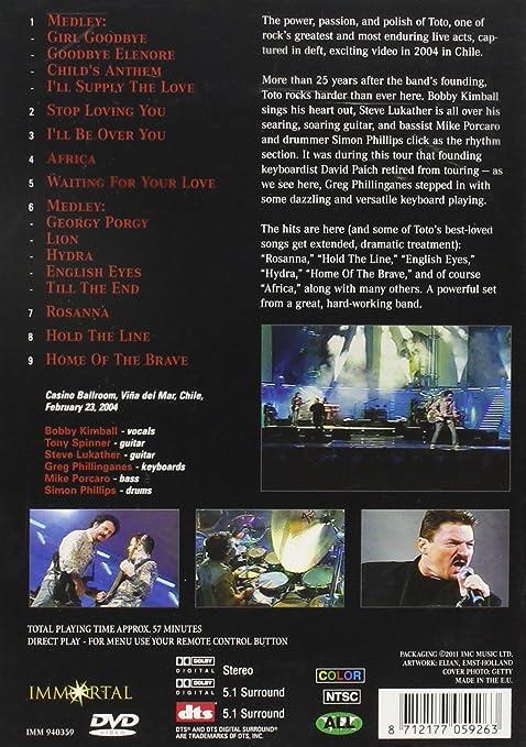 Amazon.com: Toto in Concert: Viña del Mar, Chile: Toto: Movies & TV