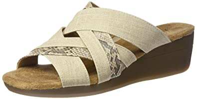 96e422e3ad5d Aerosoles A2 Women s Flower Power Wedge Sandal Beige Combo 6.5 ...