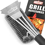 """GRILLART Grill Brush and Scraper Best BBQ Brush for Grill, Safe 18"""" Stainless Steel Woven Wire 3 in 1 Bristles Grill…"""
