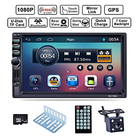 Amazon.com: LSLYA Bluetooth Car Radio, Auto Radio Dual 2 Din ...