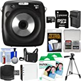 Fujifilm Instax Square SQ10 Hybrid Instant Film & Digital Camera with 32GB Card + 20 Color Prints + Case + Battery & Charger + Tripod + Kit