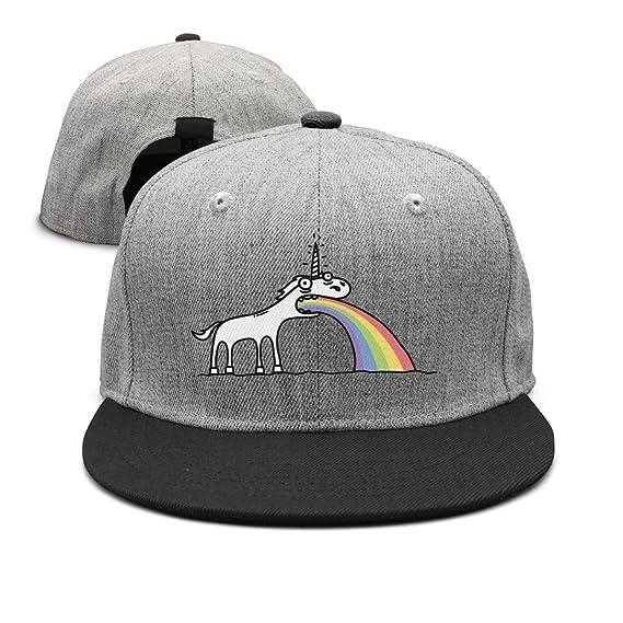 d7e27cef169 Waldeal Hearnsom Barred Rainbow Unicorn Unisex Mesh Baseball Hats ...