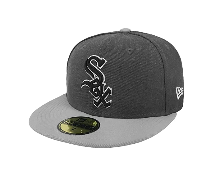 c34a735ca7e New Era 59Fifty Hat MLB Chicago White Sox Shader Melt 2 Charcoal Gray Cap (