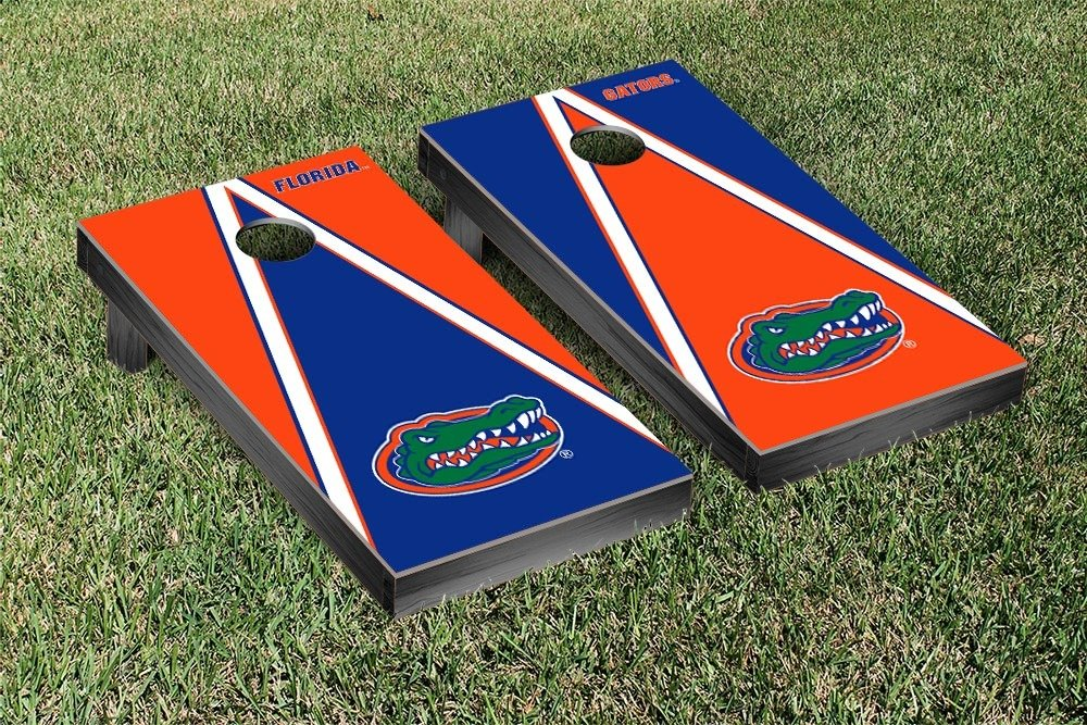 Florida UF Gators Regulation Cornhole Game Set Triangle Gator Version by Victory Tailgate