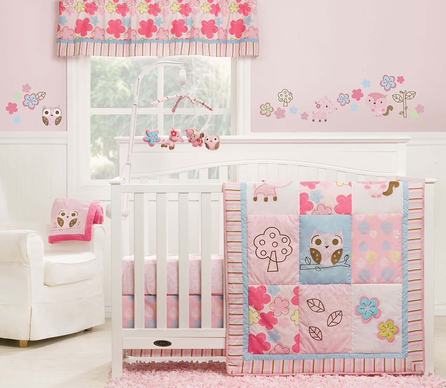 Amazon.com : Graco Woodland 3 Piece Crib Bedding Set, Girl : Baby Girl Crib  Bedding : Baby