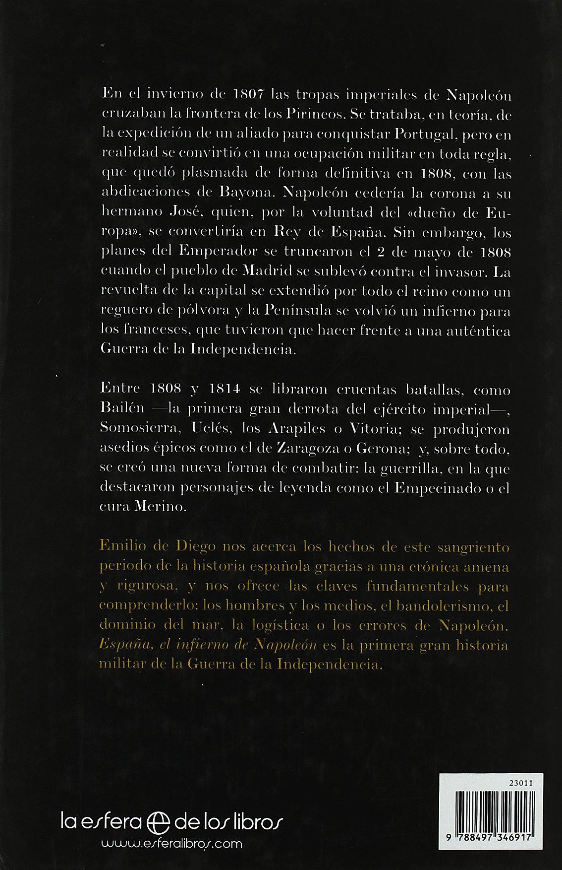 España - el infierno de napoleon: Amazon.es: Diego, Emilio De: Libros