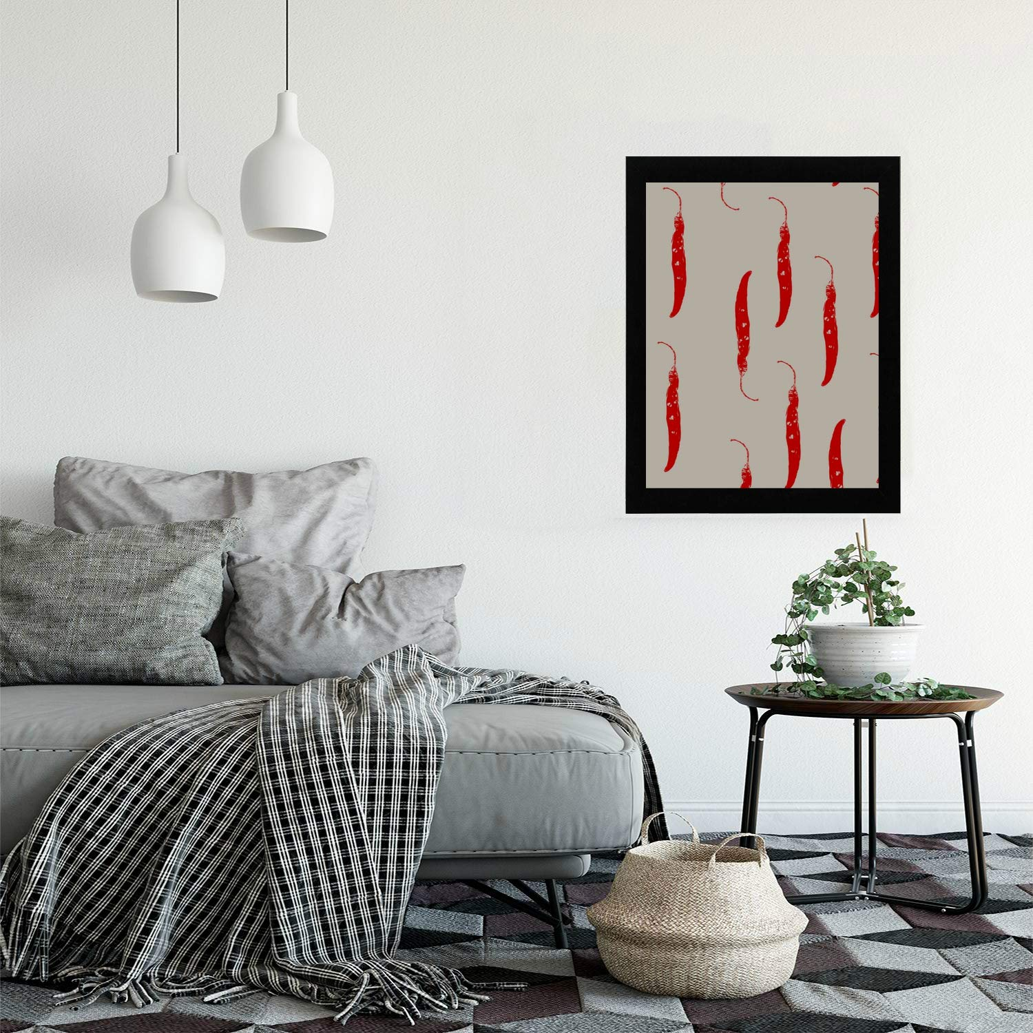 Bathroom Wall Hangings Chill Red Spicy Pepper Modern Wooden Framed Vintage Wall Art Painting Print Hangings For Bedroom Living Room Baby Room Wall Decor Amazon In Home Kitchen