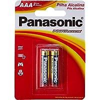 Pilha Alcalina, Panasonic, LR03XAB/2B, CinzaAAA (Palito)