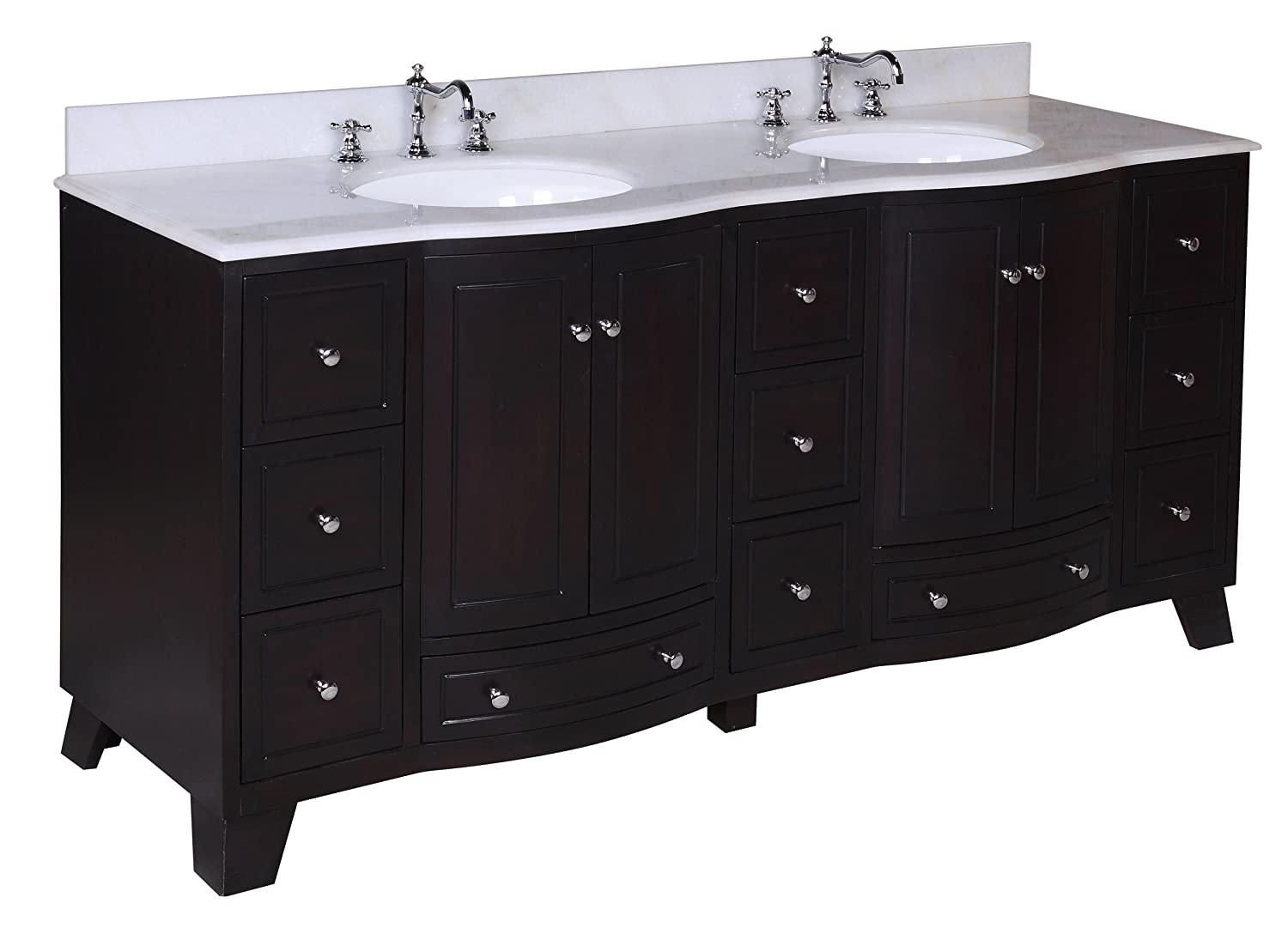 kitchen bath collection palazzo bathroom vanity with marble countertop cabinet with soft close function and undermount ceramic sink