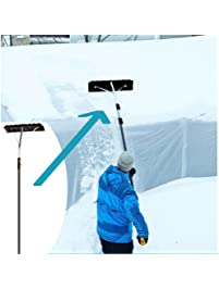Non Slip Handle Extends To17 Ft. Telescoping Roof Rake W/ 24 In.