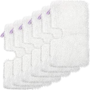 FFsign 6 Pack Replacement Washable Microfiber Steam Mop Pads for Shark Steam Pocket Mop Hard Floor Cleaner S3501 S3550 S3601 S3601D S3801 S3801CO S3901 SE450 S2901 S2902, 6 Pcs Cleaning Steamer Pad