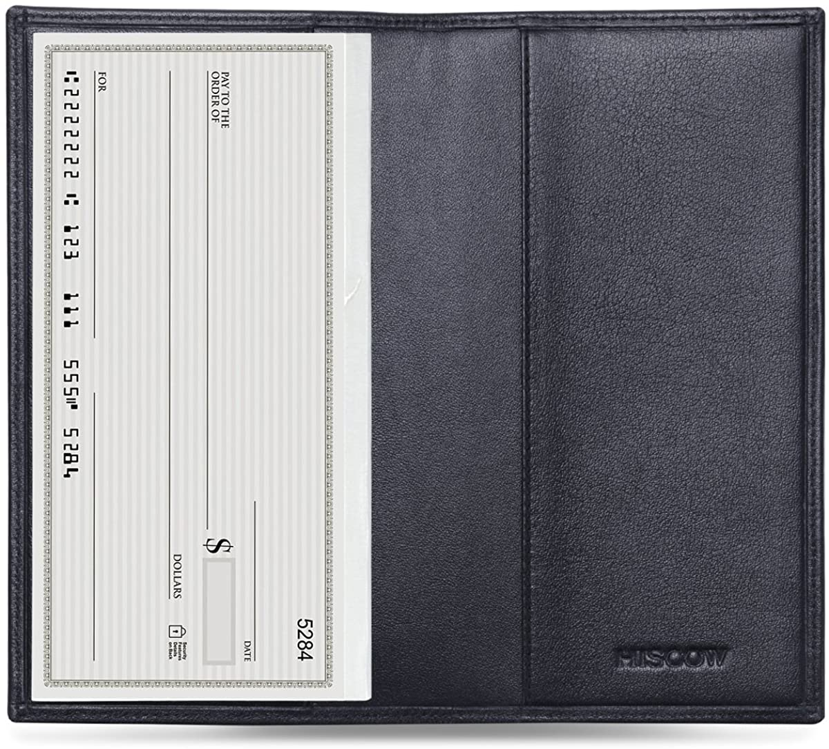 HISCOW Minimalist Checkbook Cover - Full Grain Leather at  Women's Clothing store