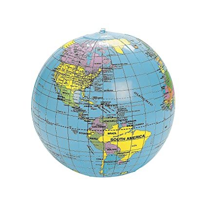 Buy inflatable world globe beach ball 9 online at low prices in inflatable world globe beach ball 9quot gumiabroncs Gallery
