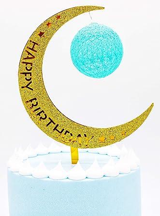 MoonLight - Decoración para tarta de cumpleaños con globo ...
