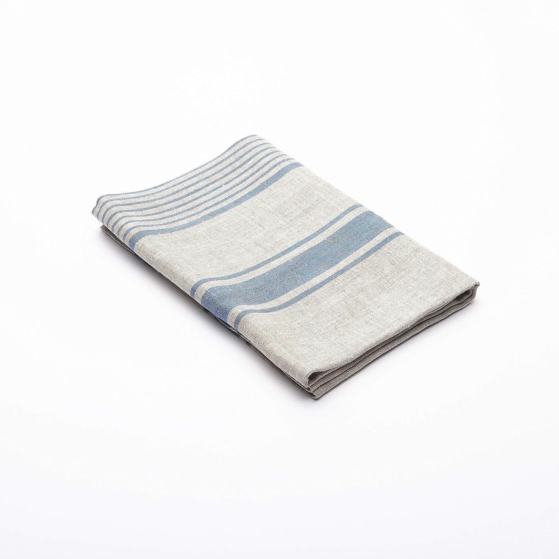 LinenMe 100 x 145 cm asciugamano da bagno in lino Provance, blu 0075501