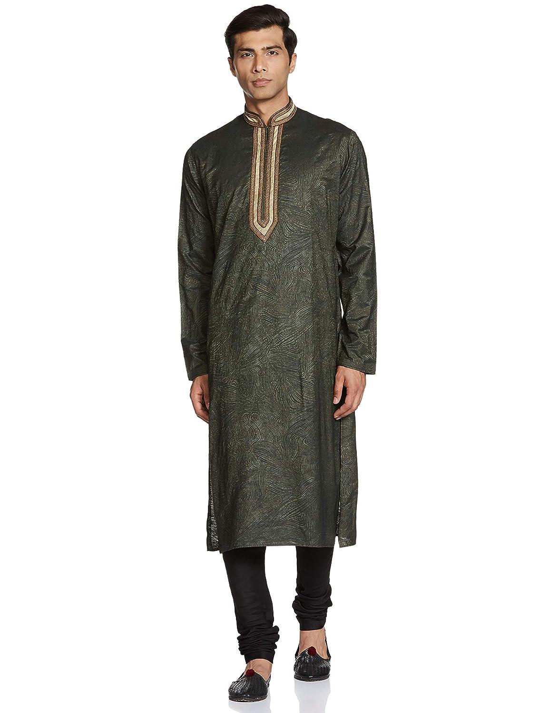 LAKSHYA Men's Art Silk Kurta Pyjama (Pack of 2)