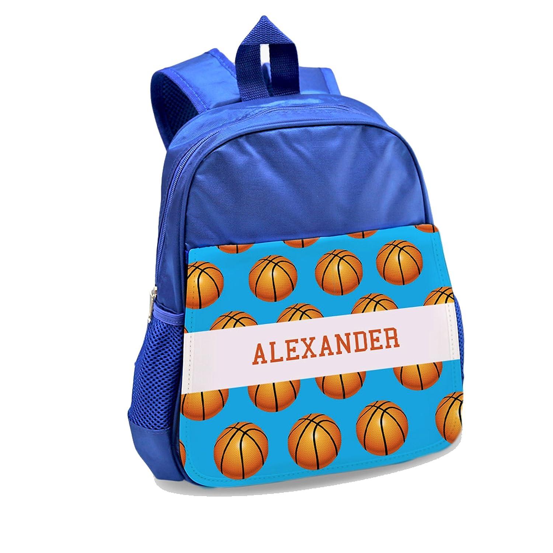 Personalizado directo personalizado baloncesto niños azul mochila ...
