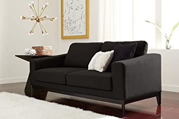 Elle Decor Olivia Sofa, Chenille, Gray