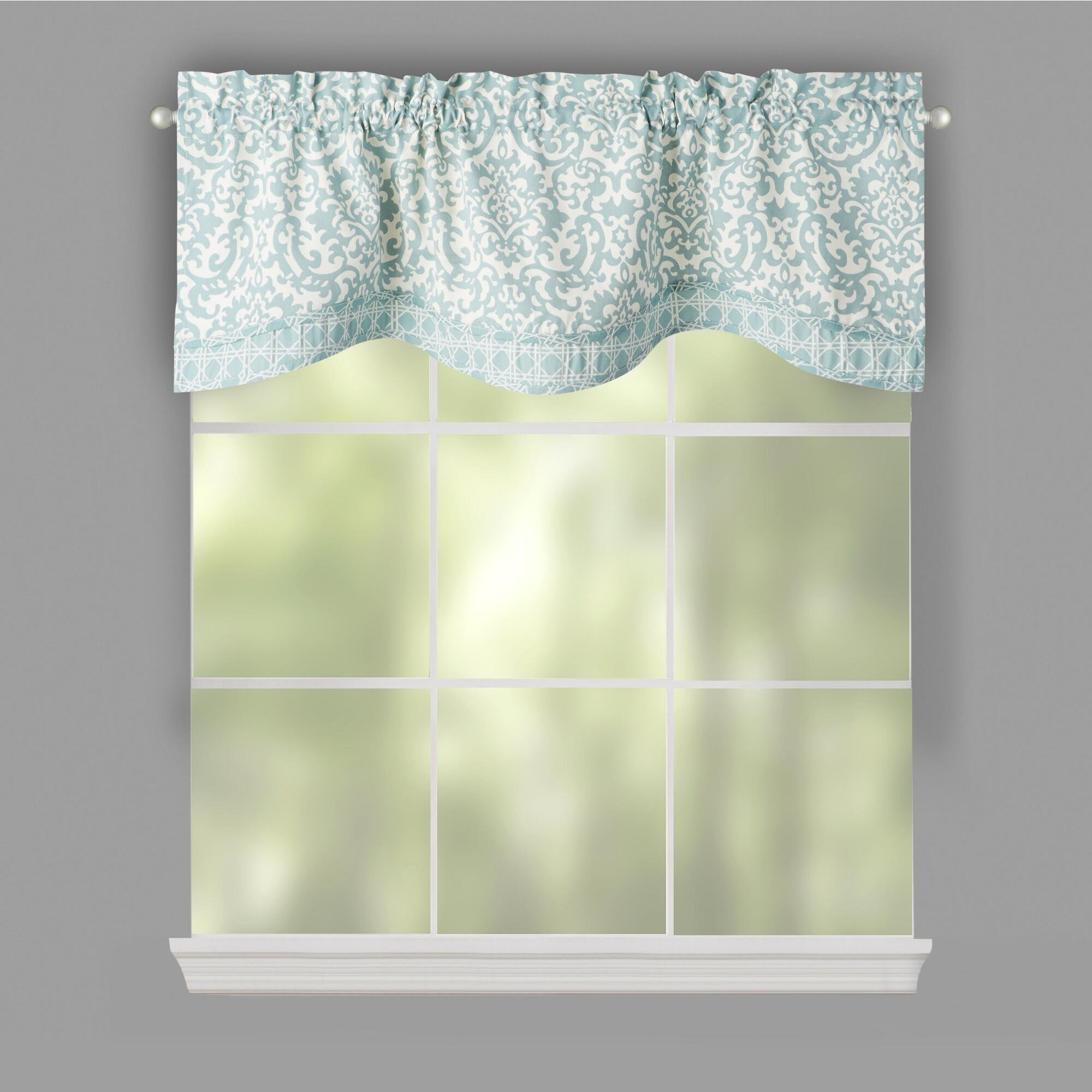 Traditions By Waverly Spa Duncan Kristy Window Valance, 52-inch X 16-inch