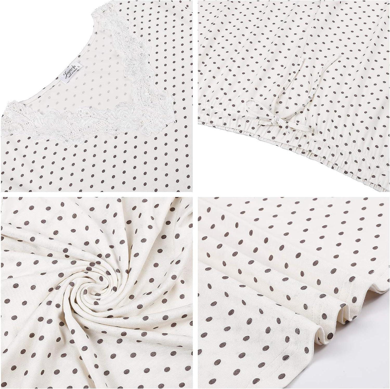 Amorbella Womens Bamboo Pajamas Short Sleeve V Neck Pjs Set with Pants