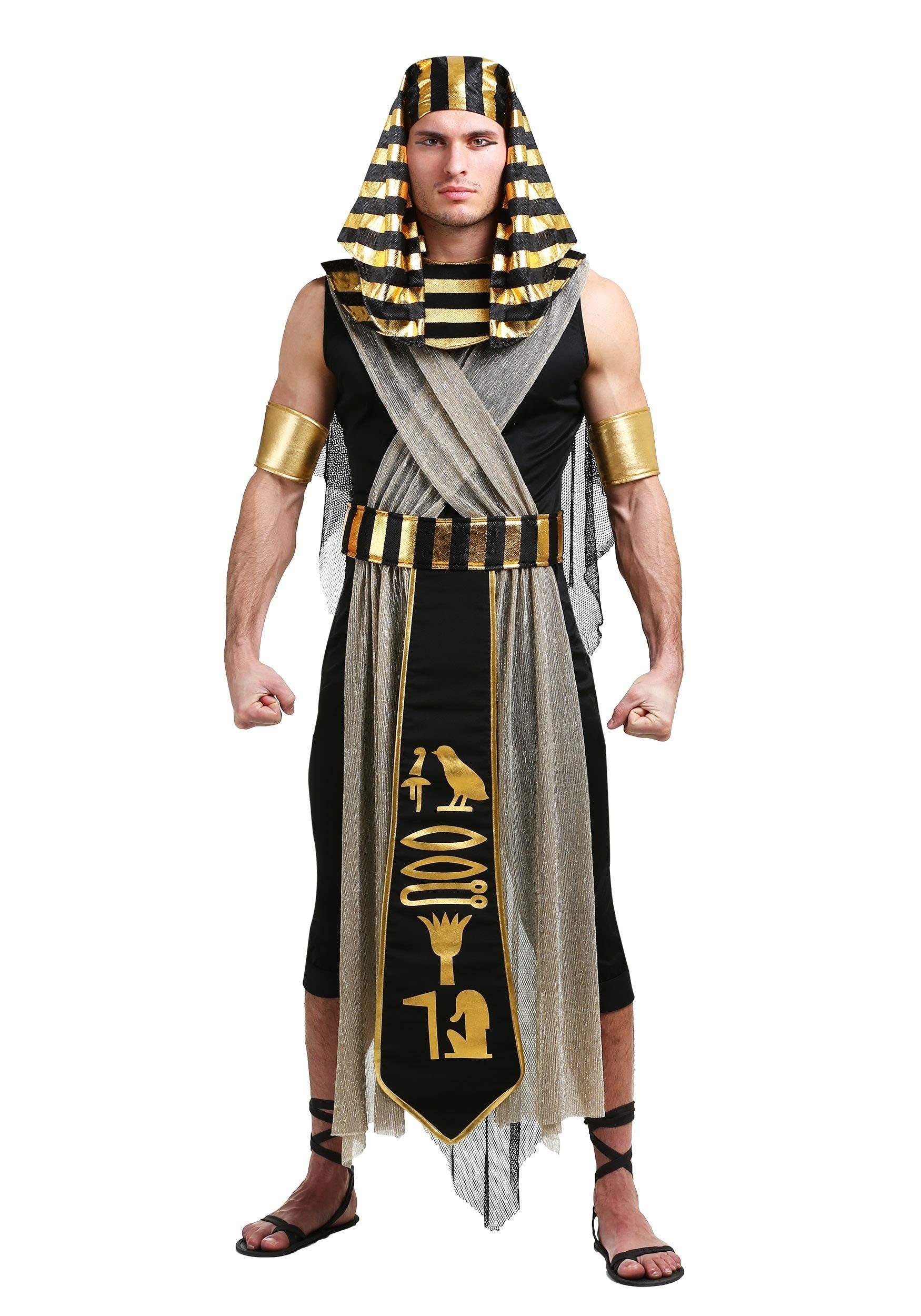 Men's All Powerful Pharaoh Costume Egyptian Pharaoh Costume Small Black by Fun Costumes