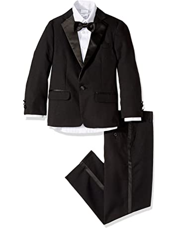 5c481ce224bc4 Nautica Boys  4-Piece Tuxedo Set with Dress Shirt