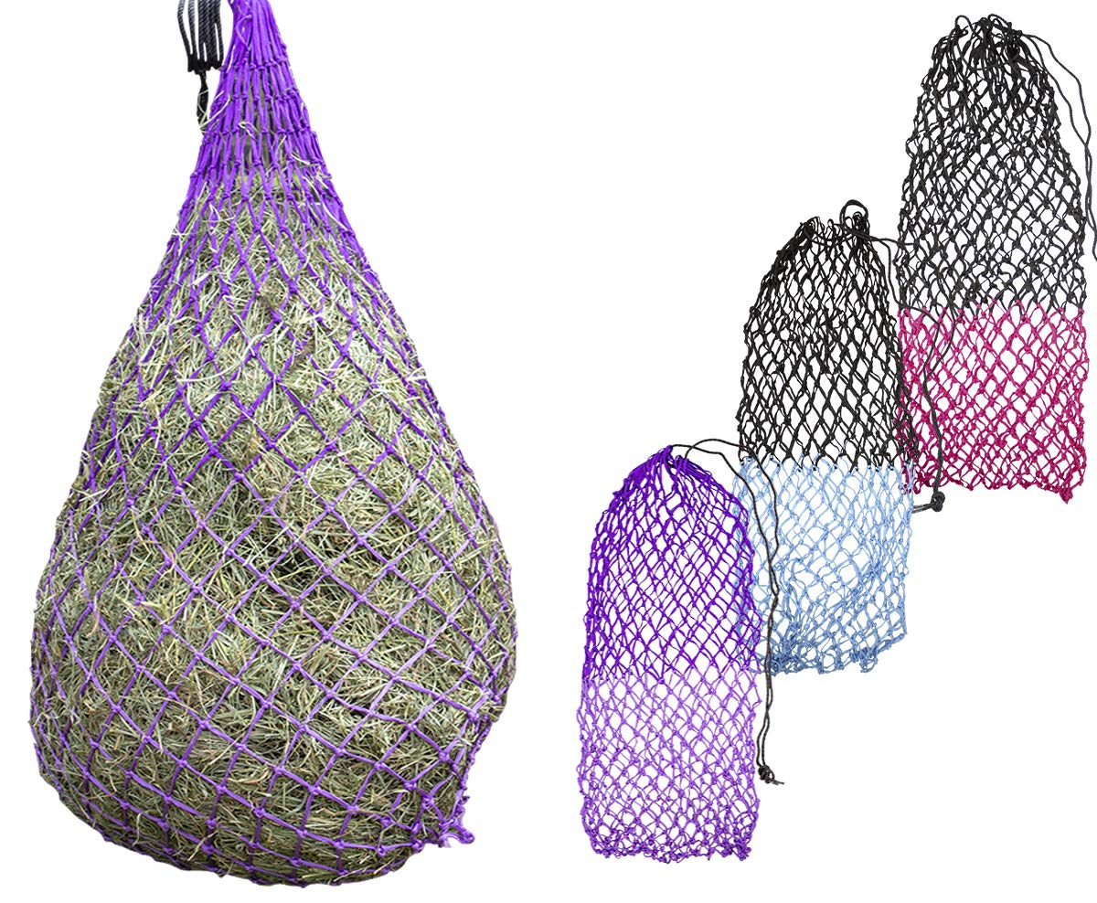 Light Purple Dark Purple Derby Originals 56  XL Cozi Net Slow Feed Soft Mesh Poly Rope Hanging Hay Net with 2x2 Holes