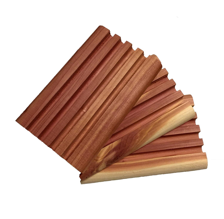 Dakota Woodcraft Aromatic Cedar Soap Dish 3 Pack