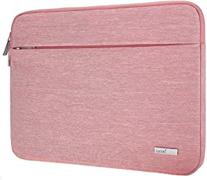 "Lacdo 11.6 Inch Chromebook Case Laptop Sleeve for 11.6"" Samsung Dell HP Stream/Acer Chromebook R 11 / Lenovo C330 / ASUS C202 / MacBook Air 11.6-inch/Surface Pro X 7 6 5 2-in-1 Notebook Bag, Pink"