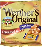 Werthers Original Sugar Free Caramel Hard Candy, 1.46-Ounce (Pack of 12) (Packaging may vary)