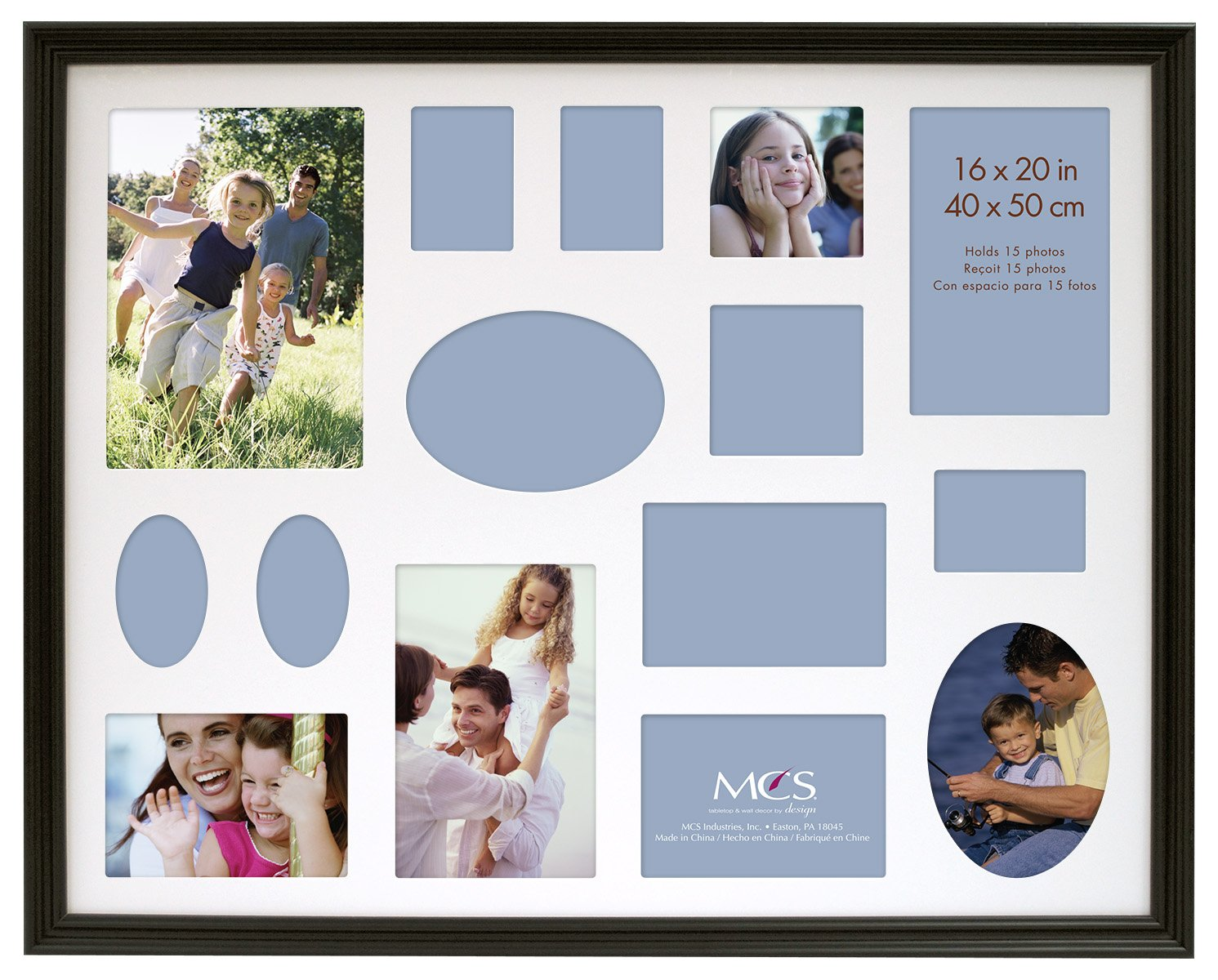 Amazon.com - MCS 16x20 Inch Traditional Wood Collage Frame, Black ...