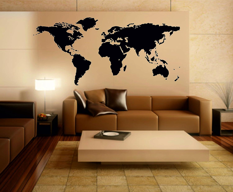 Stickerkoenig Wandtattoo Weltkarte World Map Motiv II XXXL Premium Seidenmatt Seidenmatt Seidenmatt Groß 220x114cm Wandsticker Wandaufkleber FARBE  weiss 8b6ba0