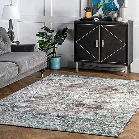 Nuloom Lacy Vintage Floral Area Rug 8 X 10 Teal Furniture Decor Amazon Com