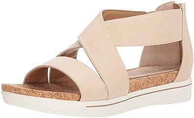 c67d52b1d68 ADRIENNE VITTADINI Footwear Women s Claud Sandal Bone-Small 6 Medium US