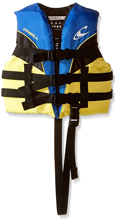 O'Neill Child Superlite USCG Life Vest,Pacific/Yellow/Black/Yellow,30-50 lbs best children's life vest