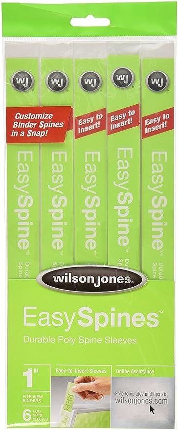amazon com wilson jones easyspines binder inserts 1 inch width 6