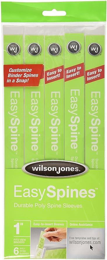 Amazon.Com : Wilson Jones Easyspines Binder Inserts, 1 Inch Width