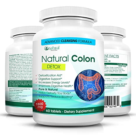 Amazon.com: Natural Colon Cleanse Detox With Acidophilus-Super ...