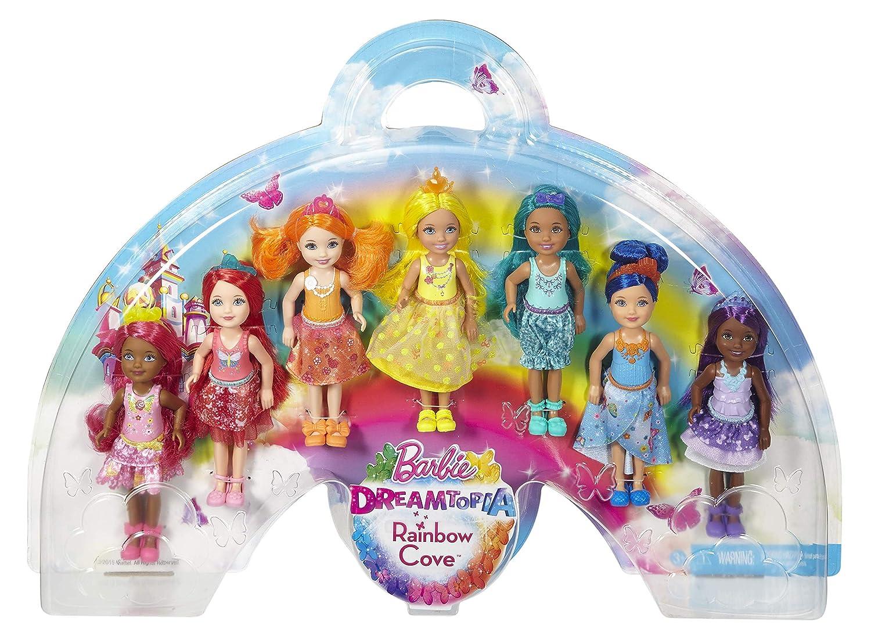 有名なブランド Barbie Gift Dreamtopia Doll Rainbow Cove 7 Doll Gift Cove Set B01ARGBP8W, 質みなみ:f8217e43 --- jagorawi.com