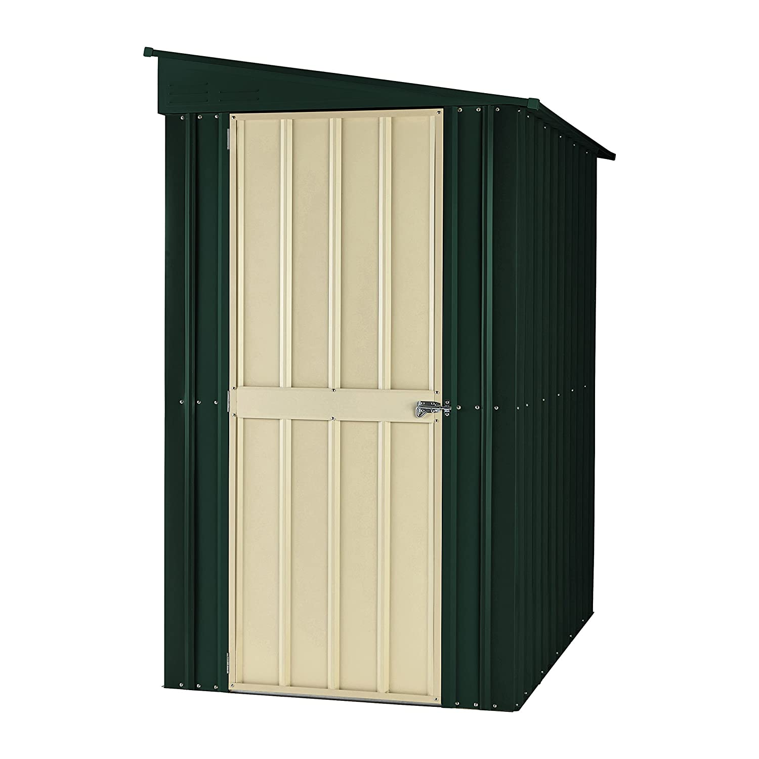 global lotus lean to 46 hg 4 x 6 ft shed heritage green amazoncouk garden outdoors - Garden Sheds 3ft Wide