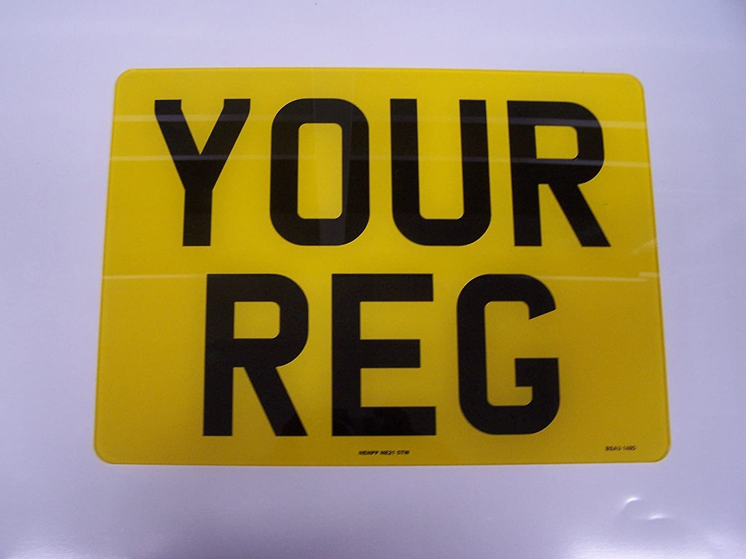 Rear Square Number Plate Registration Plate 11x8 Free Post and Free Adhesive Pads
