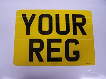 Rear Square Number Plate Registration Plate 11x8 Free Post and Free Adhesive Pads & Rear Square Number Plate Registration Plate 11x8 Free Post and Free ...