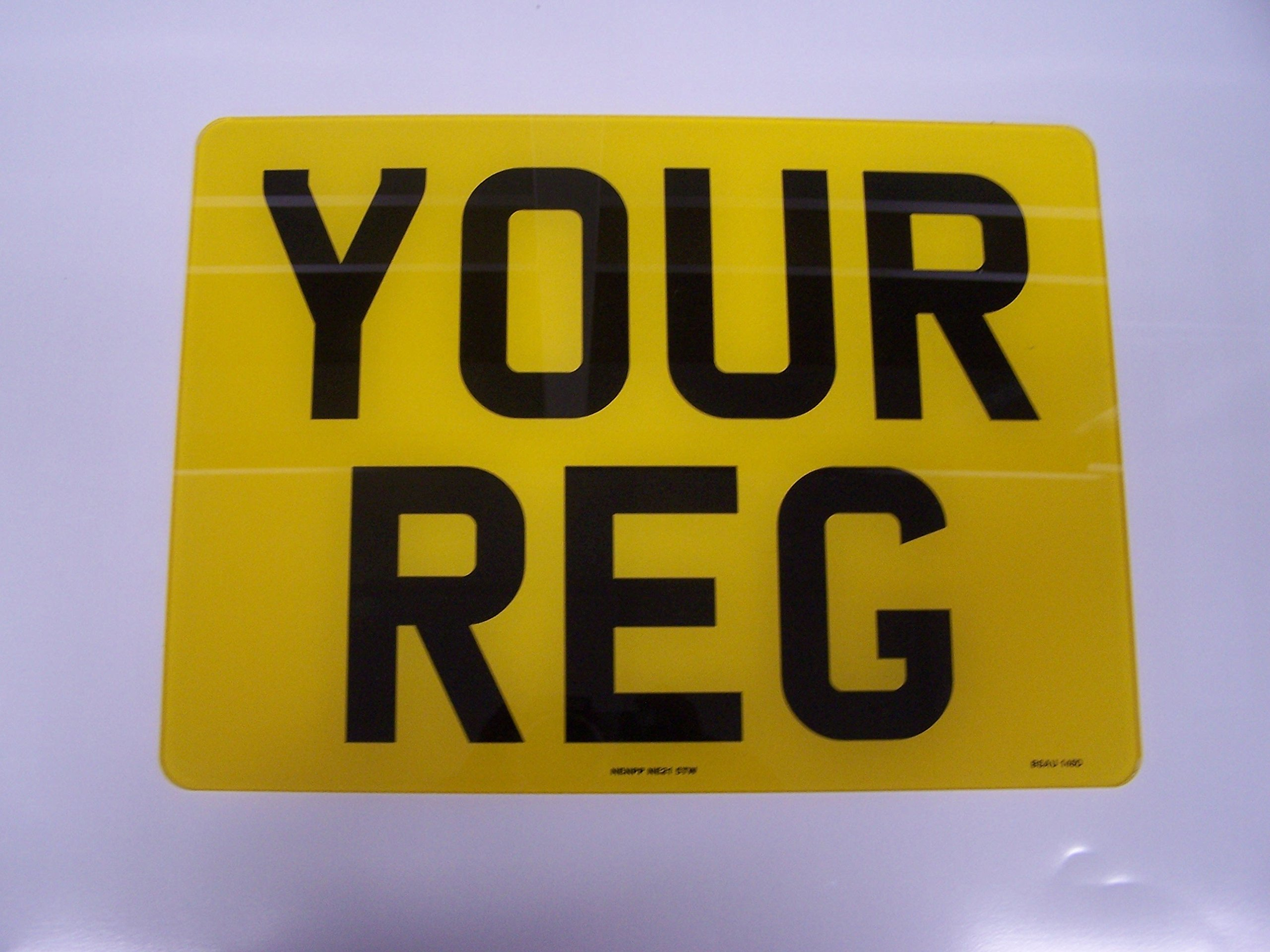 Number Plate Registration Plate Oblong Rear No badge Free Post and Free Adhesive Fixings