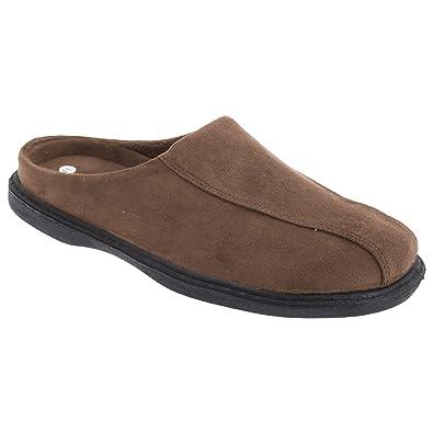 88b012b36fb6f Zedzzz Mens Jarrow Synthetic Suede Mule Slippers: Amazon.co.uk ...