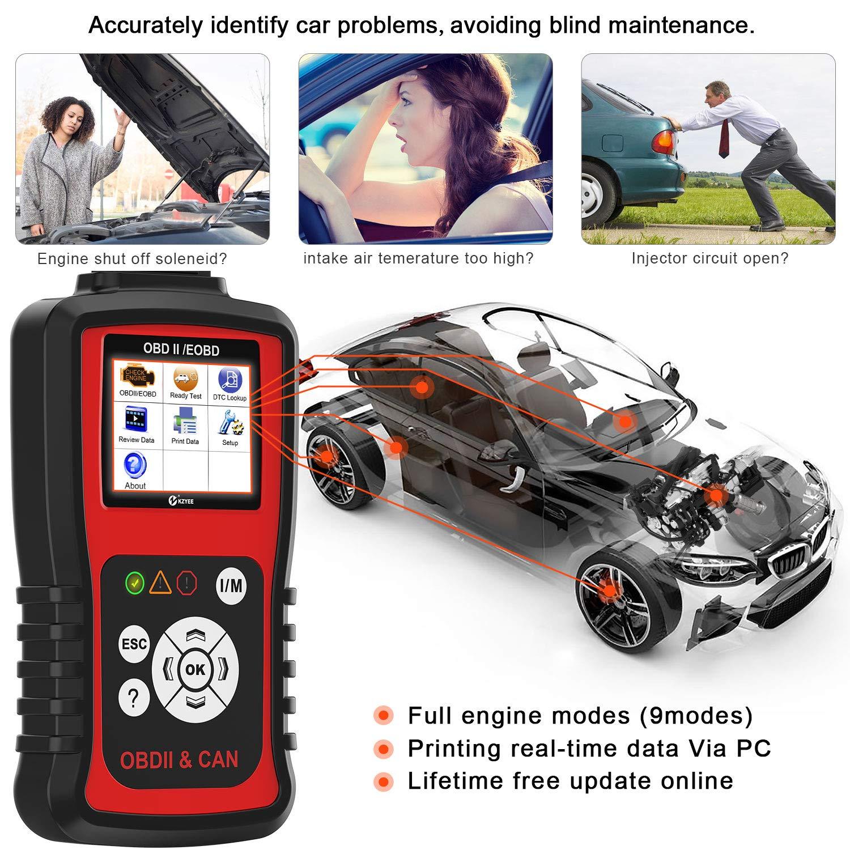 Diesel Gasoline Engine Diagnostic Tool OBD2 Code Reader KZYEE KC301 Auto Scanner