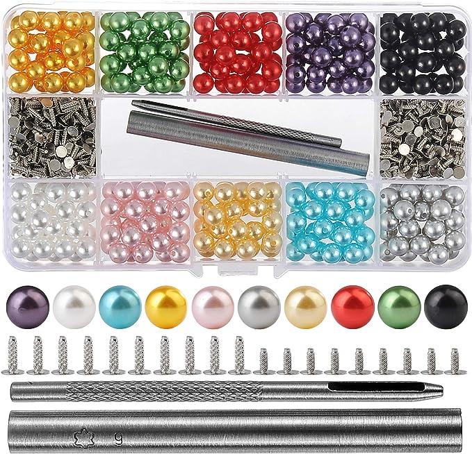 -10mm zd5 50sets Colorful Rapid Rivet Studs White Rivet for Bags Belts Bracelets Leathercraft Decoration purse making shoemaking