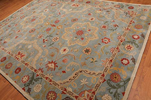 Old Hand Made Henderson Floral Traditional Persian Oriental Woolen Area Rugs 9'x12'