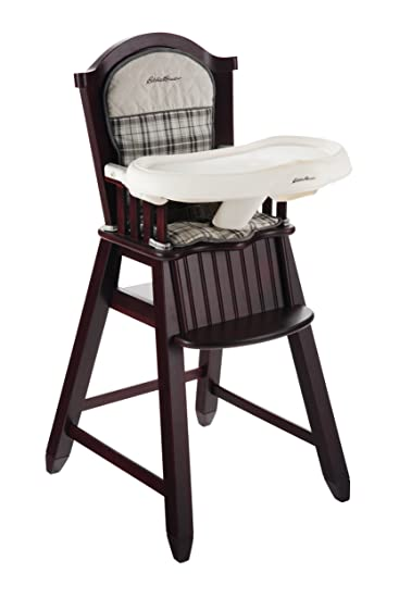 Eddie Bauer Newport Collection Wood High Chair Stonewood  sc 1 st  Amazon.com : baby chair wooden - Cheerinfomania.Com
