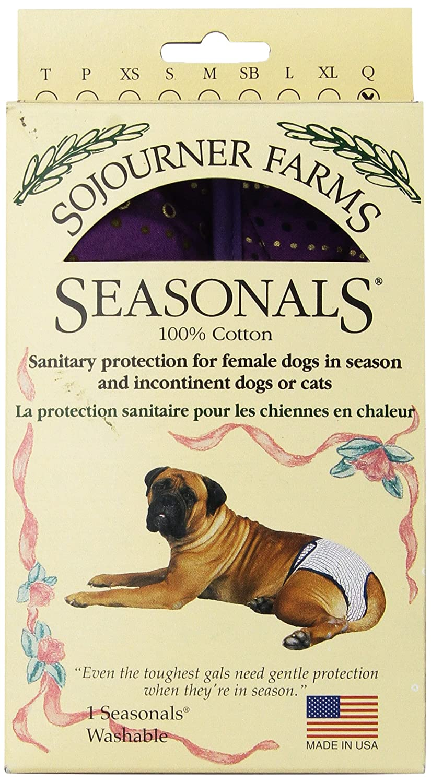 Purple Batik QueenSeasonals 41116BLK Washable Dog Diaper, Fits Extra Large Dogs, Black