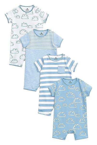 next Bebé-Niños Pack De Cuatro Peleles con Estampado De Nubes (0 Meses -